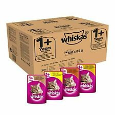 Whiskas 1+ Wet Adult Cat Food Poultry Selection in Jelly 85g x 120 Pouches