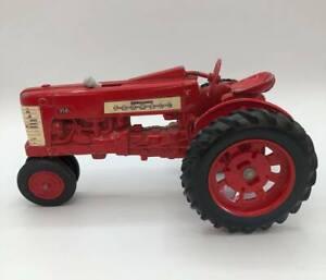Vintage McCormick Farmall 350 Red Farm Tractor ERTL Die-Cast Metal Toy