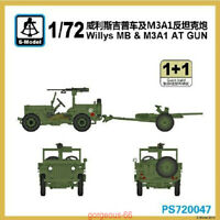 S-model 1/72 PS720047 Willys MB&M3A1 AT Gun (1+1)