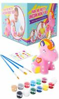 GirlZone Paint Your Own Unicorn Money Box for Girls, Arts & Crafts for Kids, ...
