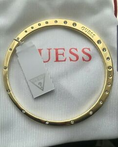 Brand New Guess Stainless Steel Gold Bangle