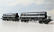 Fleischmann, 2er-Set Röhrentransportwagen, DB, Ep.3, mit OVP  - gealtert