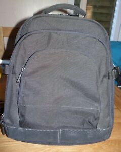 Laptop & overnight Backpack, Black, multi compartments, sturdy, carry handle, vg