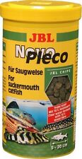 JBL NovoPleco 250ml Pleco Chips Tropical Fish Food Novo Sinking Algae Wafers