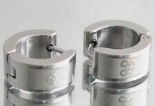 Stainless Steel 2 Tone Mouse Hoop Huggie Earrings
