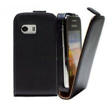 Pochette Coque Samsung GT-S5300 Galaxy Pocket fine vertical case slim cuir noir