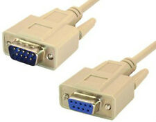 DB9 9 pin Serial RS232 Extension M/F Male to Female Cable 10 foot (10 ft length)
