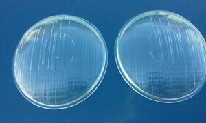 vw volkswagen bug oval porsche 356 a b c flutted headlight lens glass hella nos