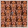 BonEful Fabric FQ Cotton Quilt VTG Orange Peach Brown Flower Stripe Small Dot NR