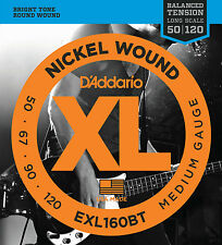 D'ADDARIO EXL160BT BALANCED TENSION BASS STRINGS, MEDIUM GAUGE 4's - 50-120