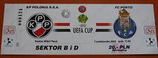 OLD TICKET UEFA Polonia Warszawa Poland FC Porto Portugal