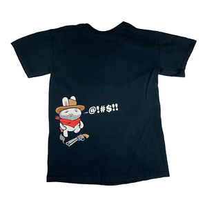 Rare Game Stop Shirt Rabbit Cussing Gaming Conference San Antonio Small