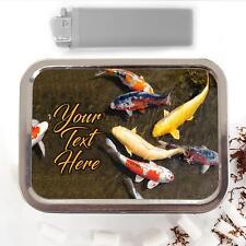 Koi Carp Fish Pond Fishing 2oz Tobacco Tin Baccy Pouch Personalised Gift SH148