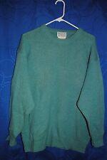 NELL FLOWERS Blue/Green Wool Sweater Size L