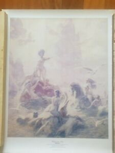 "Norman Lindsay print ""unknown seas"""