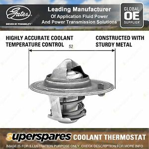 Gates Coolant Thermostat + Gaskets & Seals for Ford Laser KB KA KQ KNIII KQ