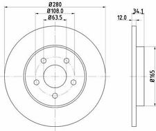 MINTEX MDK0222 BRAKE SET DISC BRAKES Rear