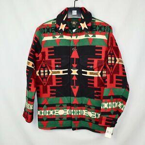 NWT New RRL Ralph Lauren Northwest Beacon Blanket Mackinaw Wool Jacket Men's