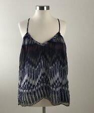 Chloe Oliver Womens Sleeveless Silk Twirling Cami Top Blouse XS