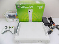 Boxed Xbox 360 White Console + Genuine Wireles Controller + 10x Games