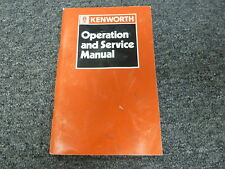 1990 Kenworth C500B K100E K130 K150 Truck Operation & Shop Service Repair Manual