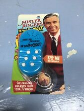 Rare Mister Rogers In Your Pocket electronic KeyChain 6 Phrases Keyring