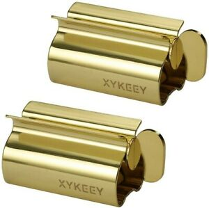 XYKEEY Toothpaste Tube Squeezer - Set of 2 Toothpaste Squeezer Rollers, Metal To