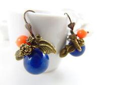 Mode-Ohrschmuck aus Messing mit Lapis Lazuli