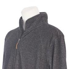 Field and Stream Full Zip Solid Gray Fleece Cotton Sweater Jacket Mens XL