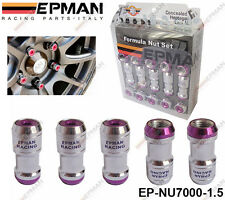 EPMAN PURPLE LOCKING FORMULA WHEEL NUTS M12 X 1.5 fit HONDA TOYOTA MITSUBISHI MA