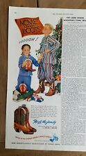 1948 boys girls fashion Western Acme cowboy boots pajamas Christmas tree ad