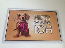 BEAGLE Hund Hunde Dog Hier wache ich ! Tierwarnschild - Blechschild 20x30 cm 16