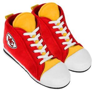 Kansas City Chiefs High Top Sneaker SLIPPERS New - FREE U.S.A. SHIPPING