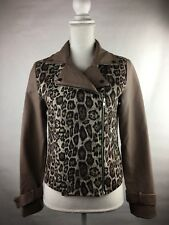 New With Tags Tobi Women's Size Small/P Faux Leather Moto Jacket Animal Print