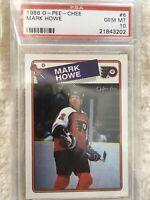 Mark Howe Philadelphia Flyers PSA 1988 O-Pee-Chee Gem Mint 10 NHL Hall of Fame