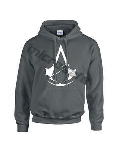 Unisex Assassins Creed Unity Game Logo Novelty Gift Hoodie Sweatshirt  S - XL