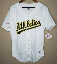 Vtg Rawlings MLB Oakland Athletics Button Jersey Shirt Men's Medium NWT VINTAGE