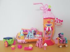 My Little Pony Ponyville Ice Cream Station Shop With Figures & Accessories...