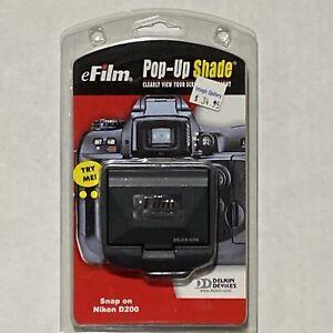 eFilm Pop-Up Screen Shade Snap-on for Nikon D200 BRAND NEW Digital Camera