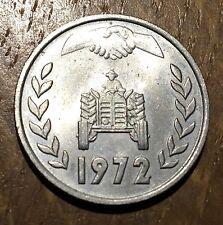TRES BELLE PIECE DE 1 DINAR ALGÉRIE 1972 TRACTEUR (121)