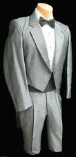 Boys Size 10 Retro Silver Grey Striped Raffinati Tuxedo Tailcoat with Pants