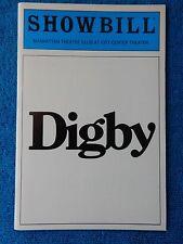 Digby - Manhattan Theatre Club Playbill - April 1985 - John Glover - Heald