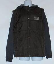 Vans Mens Puffer Fleece Hooded Vest Sweatshirt Coffee Bean Medium (M) NWT