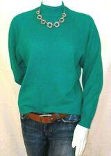 Vintage 80's Womens green wool angora sweater Peck Peck M Medium