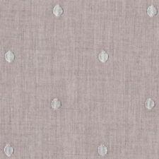 Tessuto in Lino naturale a pois bianchi ricamati cuscini tovaglie cm 50 x 150
