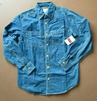 LEVI Men's Clean Classic Standard Fit Long Sleeve Denim Shirt Small and XL