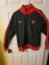 Nike Manchester United Soccer Track Jacket Gray Red Men SZ L