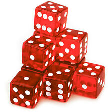 10 Red Dice - 19 mm - FREE Shipping - Australia only