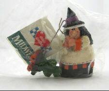 Midwest of Cannon Falls Eddie Walker Witch Pulling Frog Halloween Figurine Nos