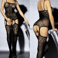 Sexy Lace Corset Lingerie Underwear Sleepwear Crotchless Body Stocking Suspender